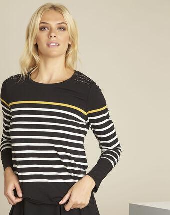 Easy black striped t-shirt black.