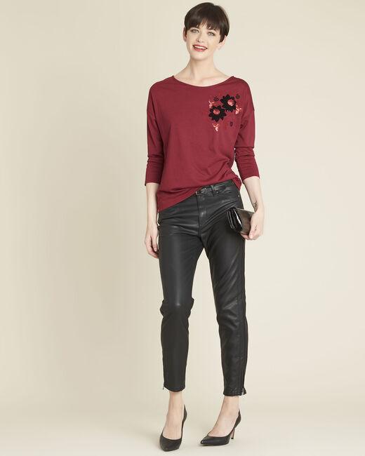 Tee-shirt rouge brodé Gini (1) - 1-2-3