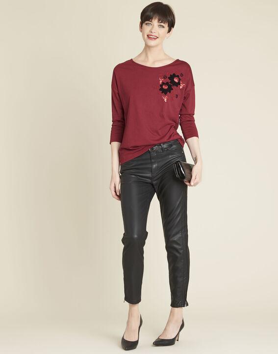 Rotes T-Shirt mit Stickerei Gini (2) - 1-2-3
