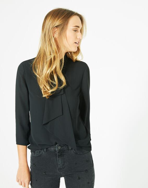 Tee-shirt noir à volants Bulle (2) - 1-2-3