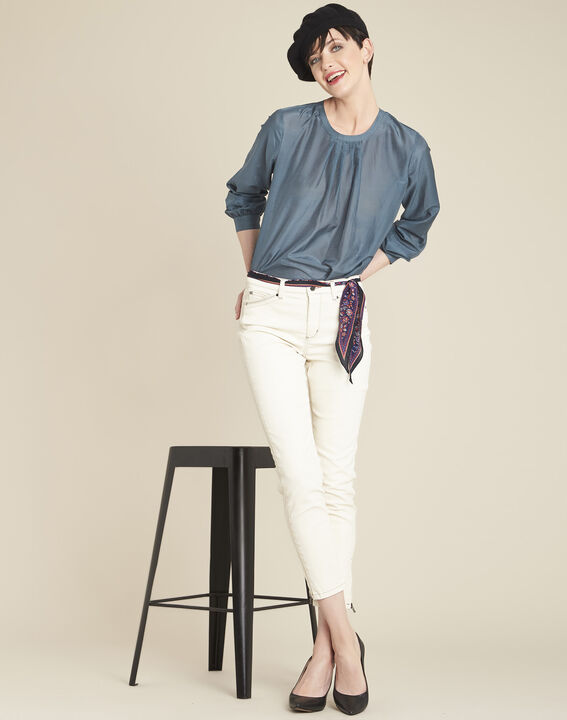 Carlota grey silk and cotton blouse (3) - 1-2-3