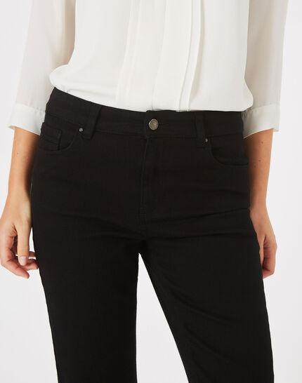 Schwarze überfärbte Straight Cut-Jeans Victor (1) - 1-2-3
