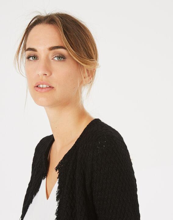 Veste courte noire tressée Patricia (3) - 1-2-3