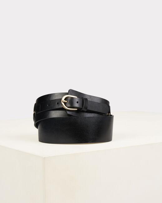Oriana wide black leather belt (2) - 1-2-3