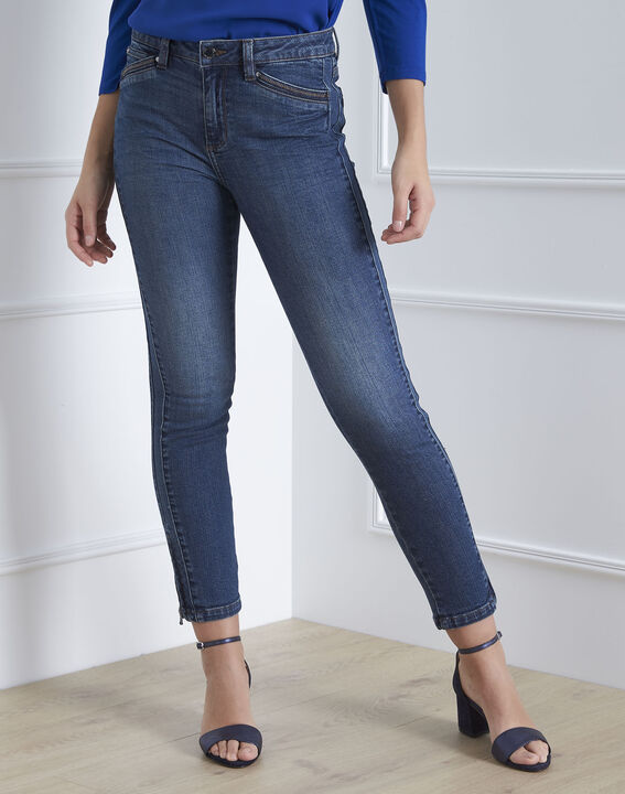 Opéra slim-cut indigo jeans with zipped detailing (2) - 1-2-3