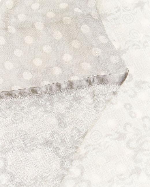 Foulard nude en laine duo d'imprimés Fanny (1) - 1-2-3