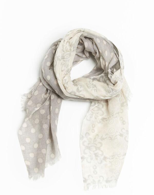 9449f7ccab3b Fanny nude wool scarf with two prints - Maison Cent Vingt-Trois