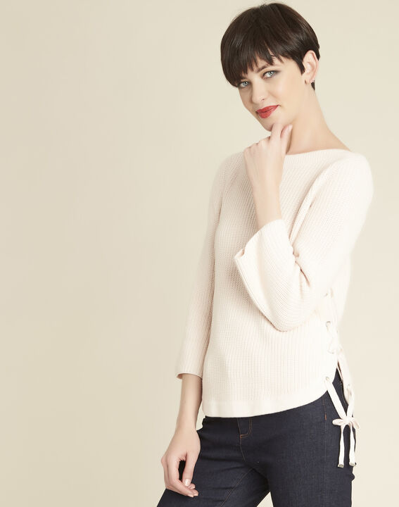 Becot nude sweater with lacing on the side PhotoZ | 1-2-3