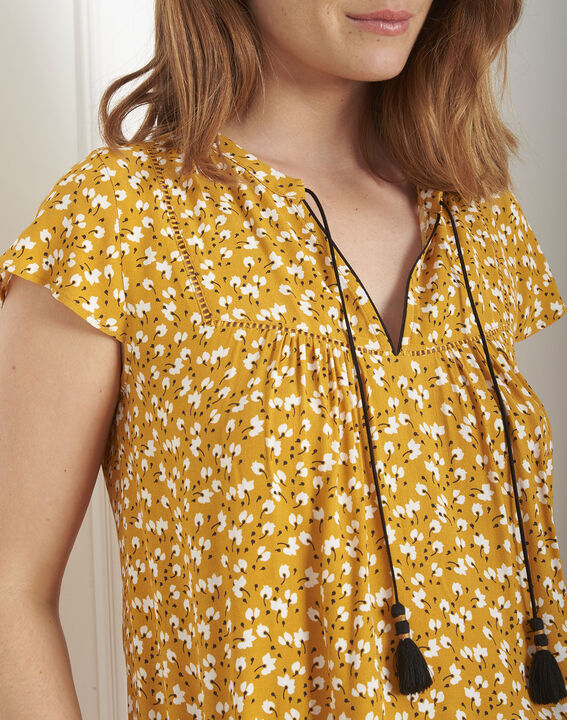Blouse jaune imprimée Virginika PhotoZ | 1-2-3