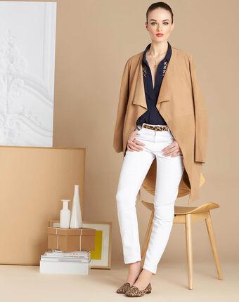 Romeo leopard print belt in beige beige.