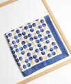 Carré de soie imprimé pois aquarelle bleu Alexi PhotoZ | 1-2-3