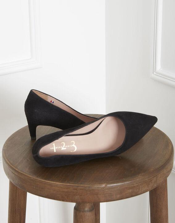Lili black high heels in suede goatskin (2) - 1-2-3