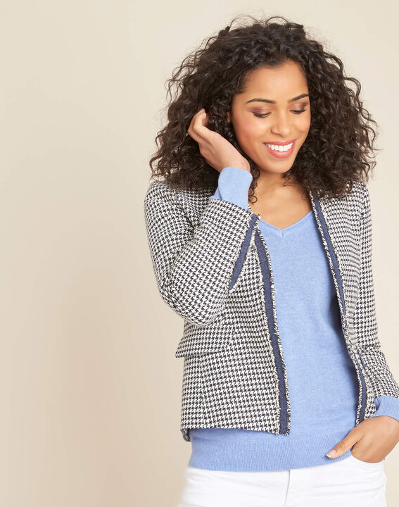 Carmela houndstooth print jacket (3) - 1-2-3