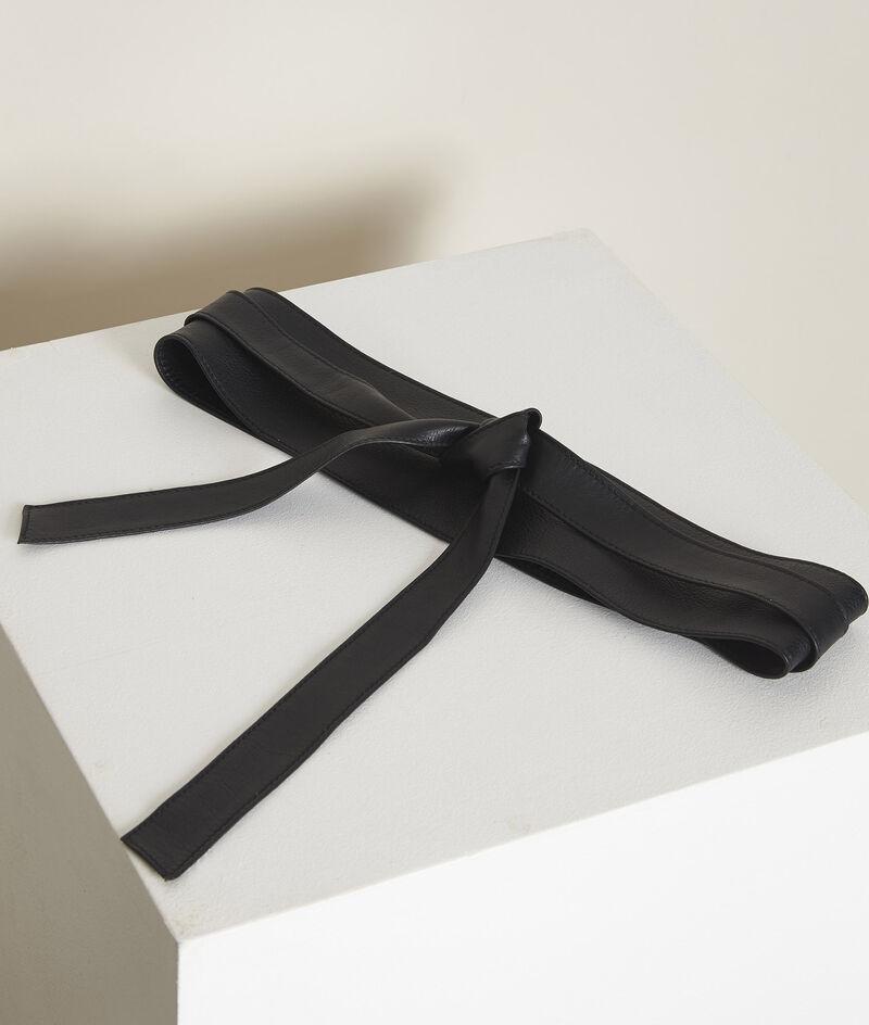 Ceinture en cuir noire à nouer Raul PhotoZ | 1-2-3