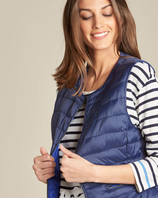 Yvanka navy blue sleeveless padded coat (2) - 1-2-3