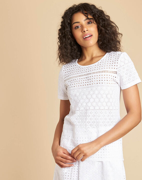 Gdansk white T-shirt with embroidery (3) - 1-2-3