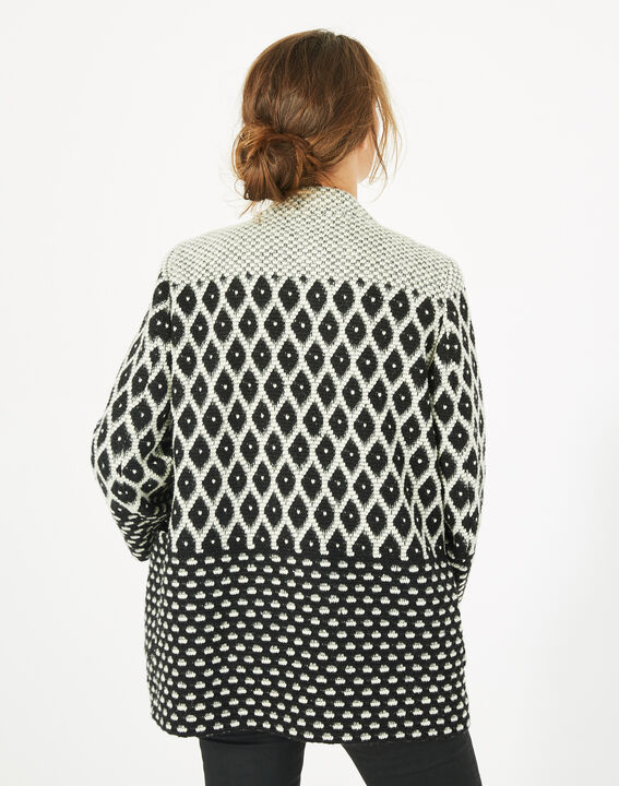 Veste noir et blanc jacquard Minotaure (5) - Maison 123