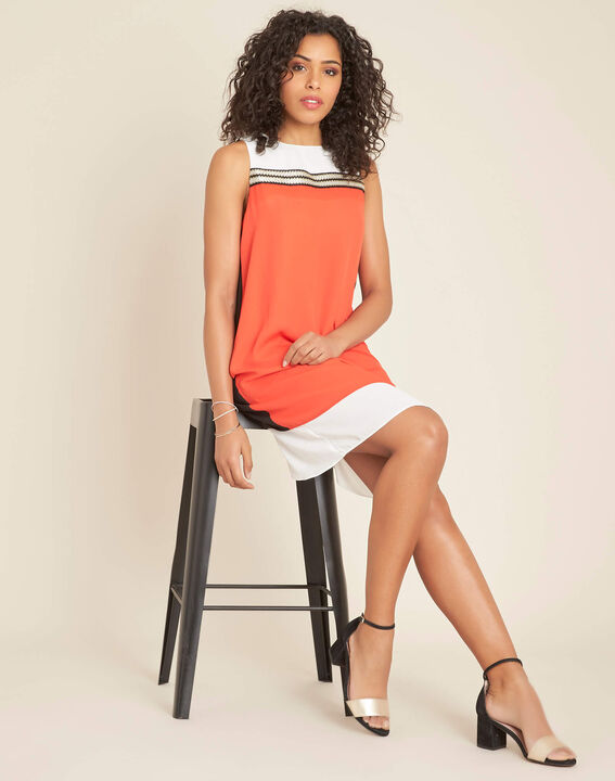 Isola orange dress with gold detailing (2) - 1-2-3