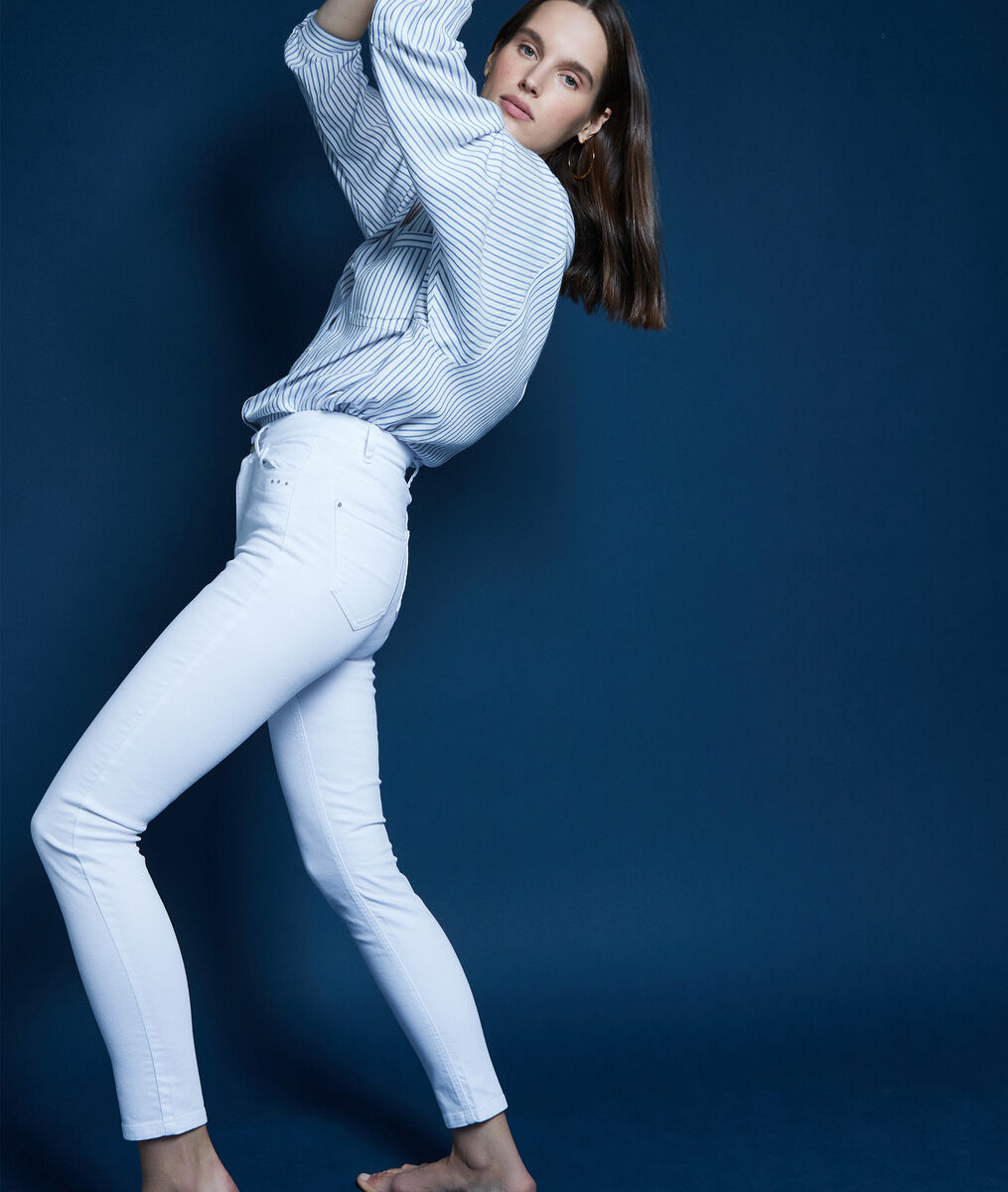 Witte slim-fit jeans Suzy 2 Bis PhotoZ | 1-2-3