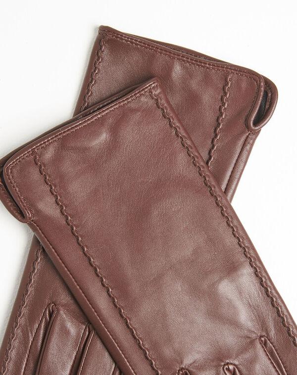 Gants marron en cuir Ulrick (1) - 1-2-3