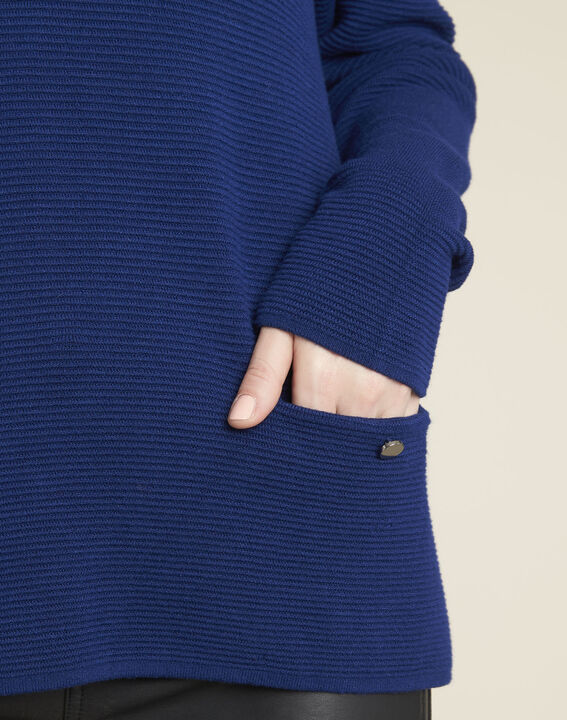 Blandine sapphire pullover with pocket details (3) - 1-2-3