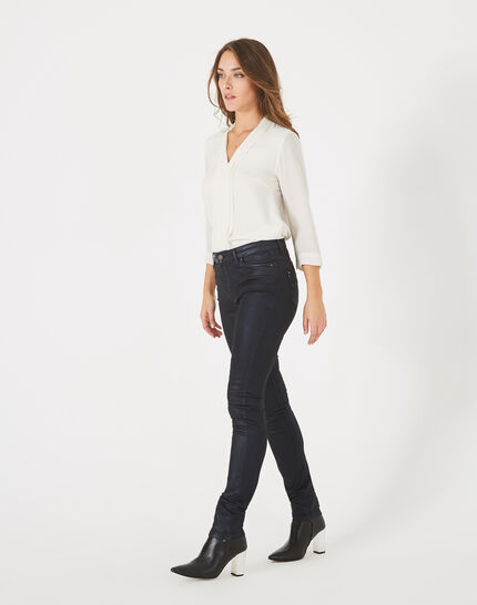 Pantalon bleu marine enduit William (1) - 1-2-3
