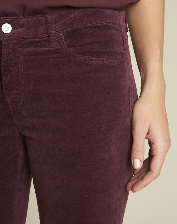 Bordeaux slim-fit jeans van fluweel Vendome (3) - Maison 123