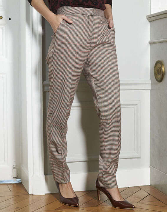 Harry red checked cigarette-cut trousers PhotoZ | 1-2-3