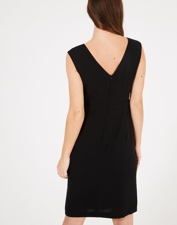 Gamma black dress with diamanté detailing (4) - 1-2-3