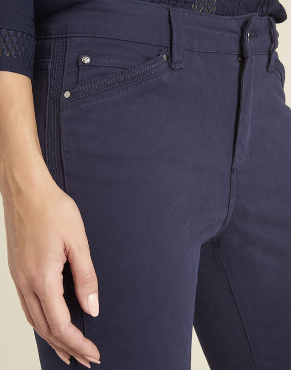 Opéra ⅞-length navy jeans (3) - 1-2-3