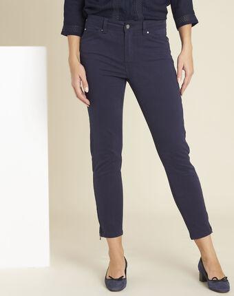 Marineblauwe 7/8-jeans opera marine.