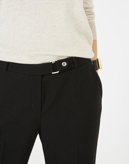 Pantalon jacquard noir Vanille (3) - 1-2-3