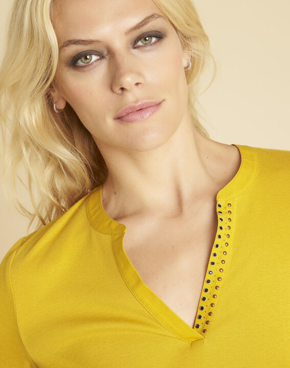 Tee-shirt ambre encolure V fantaisie Episod (3) - 1-2-3