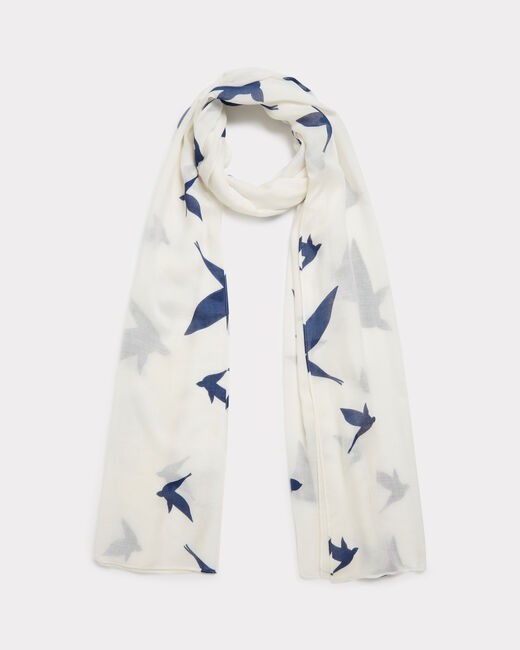 Foulard imprimé oiseaux Ellora (1) - 1-2-3