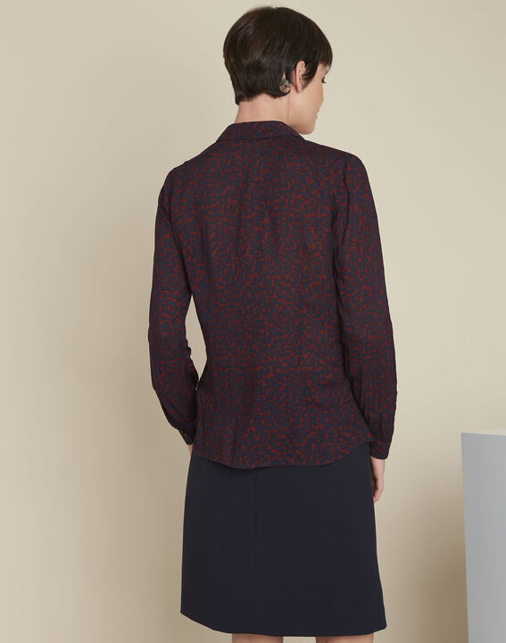 Ravel red leaf print shirt (4) - Maison 123