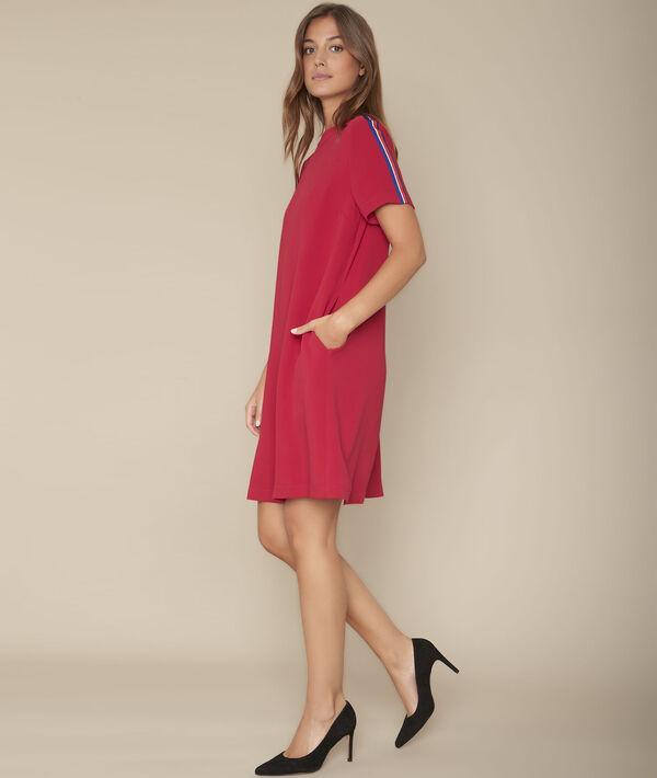 Robe droite rouge Irmine PhotoZ | 1-2-3