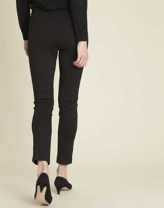 Helga black milano trousers with grosgrain band (4) - 1-2-3