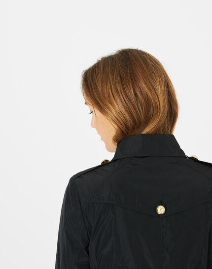 Jessy mid-length black trench coat (4) - 1-2-3