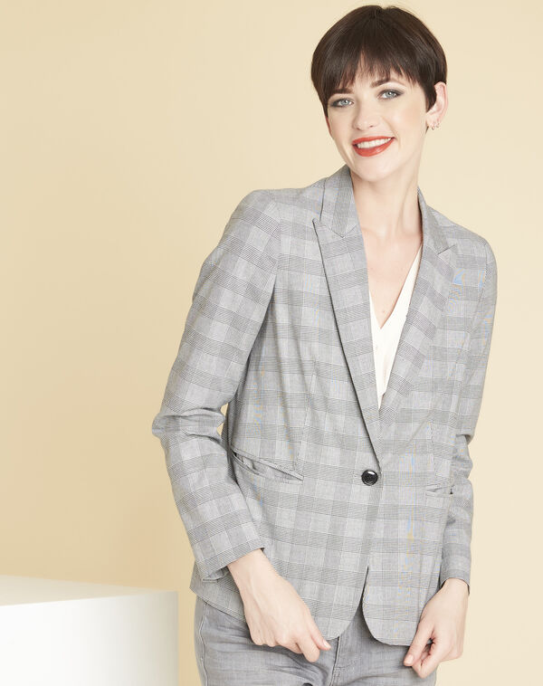Demoiselle grey jacket with Prince of Wales design (2) - 1-2-3
