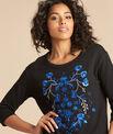 Schwarzes 3/4-Arm-Sweatshirt mit Stickerei Eldorado PhotoZ | 1-2-3