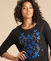 Eldorado black embroidered sweatshirt with 3/4 length sleeves PhotoZ | 1-2-3