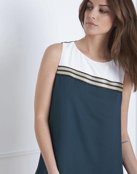 Groene jurk met lurex details Isola (3) - Maison 123