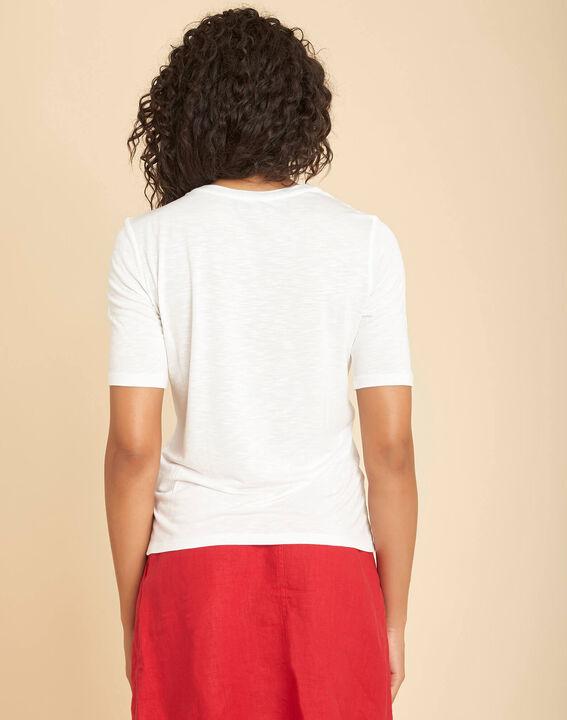 Tee-shirt écru à dentelle Envy (4) - 1-2-3