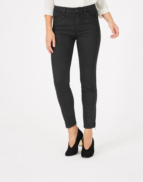 Pantalon noir enduit 7/8ème Pia (1) - 1-2-3