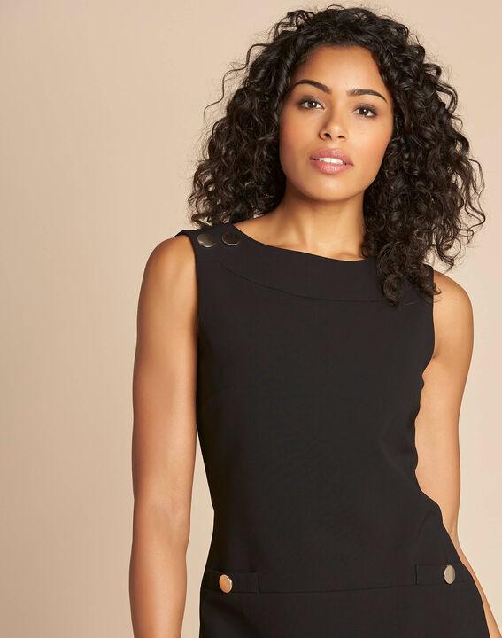 Schwarzes gerades ärmelloses Kleid Prisca (1) - 1-2-3