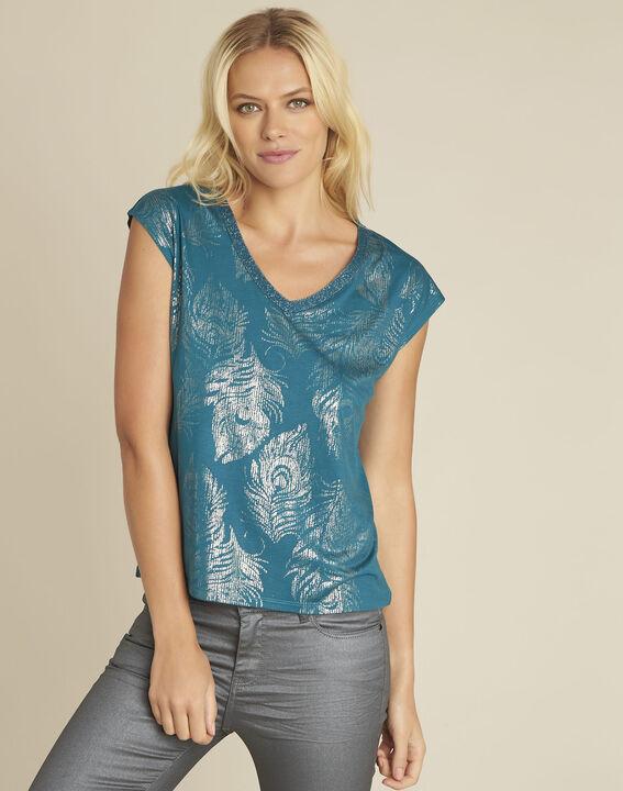 Tee-shirt vert émeraude imprimé Genight PhotoZ | 1-2-3