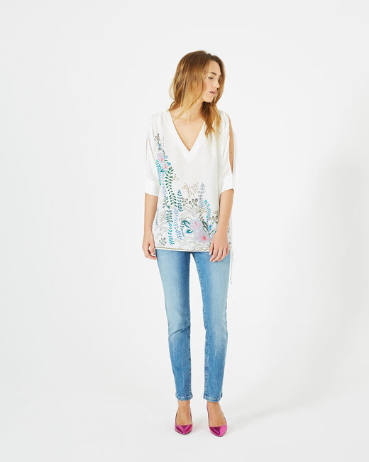 Dune printed blouse with bare shoulders (1) - 1-2-3