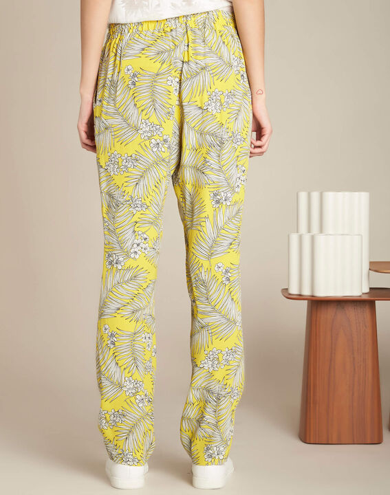 Silae floral printed yellow trousers (4) - 1-2-3