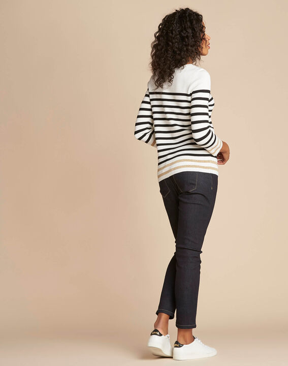Nautique off-white boat-neck jumper (4) - 1-2-3