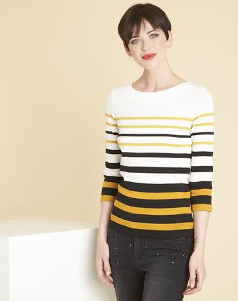 Gasayat ochre striped t-shirt ochre.